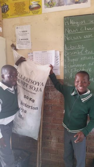 Ms Smith has been personally responsible for collecting paper in her classroom to recycling in Estcourt
