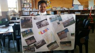 Two posters were made showing the affects of flooding and droughts