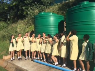 Looking at our water tanks