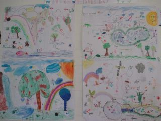 Two of the beautiful posters made by the learners showing what they learned about wetlands